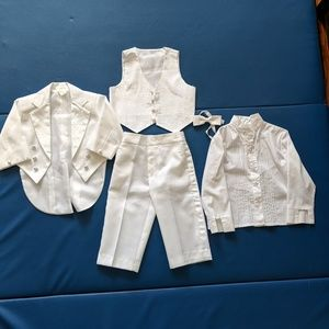 Baptism suit for toddler boys
